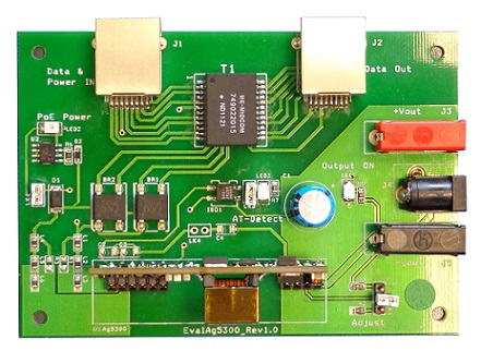 Evaluation Board for Ag5300 SIL POE+ Module